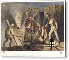 Sappers At Work In The Batteries Acrylic Print by British Library