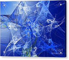 Sapphire In Blue Lace Acrylic Print by Andee Design
