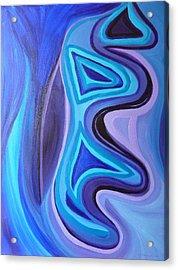 Sapphire Passion - Luminescent Light Acrylic Print by Daina White