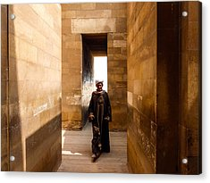 Saqqara Temple Acrylic Print by Anthony Baatz