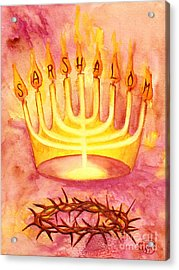 Acrylic Print featuring the painting Sar Shalom by Nancy Cupp