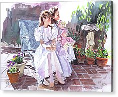 Sara And Erin Foster - Waiting For Lunch Acrylic Print