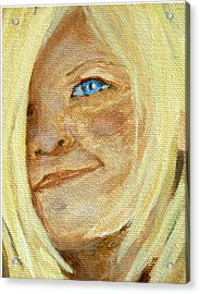 Acrylic Print featuring the drawing Sarah by Joseph Hawkins