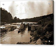 Saranac River Dam And Lock, Adirondack Mtns Acrylic Print