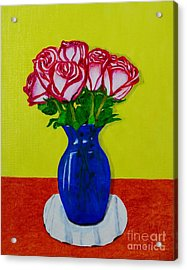 Acrylic Print featuring the painting Sara's Roses by Melvin Turner