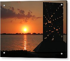 Sarasota Bay Sunset Acrylic Print