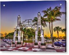 Sarasota Bayfront Acrylic Print by Marvin Spates