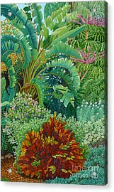 Sarasota Garden Acrylic Print by Beverly Theriault