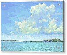 Sarasota Skyline From Sarasota Bay Acrylic Print