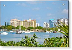 Sarasota Skyline Acrylic Print