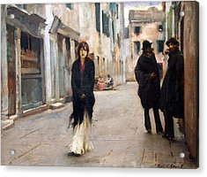 Sargent's Street In Venice Acrylic Print by Cora Wandel