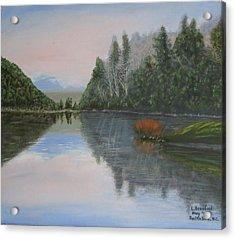 Sarita Lake On Vancouver Island Acrylic Print