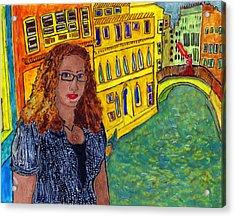 Sasha And Greta Acrylic Print by Phil Strang
