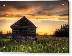 Saskatchewan Sunset Acrylic Print by Matt Dobson