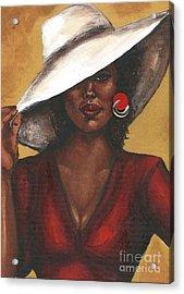 Acrylic Print featuring the painting Sassy by Alga Washington