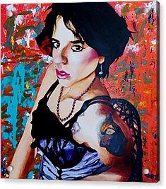Sassy Girl Sonja Acrylic Print by Raymond Perez