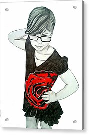 Acrylic Print featuring the drawing Sassy Izzy by Justin Moore