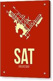 Sat San Antonio Airport Poster 2 Acrylic Print by Naxart Studio