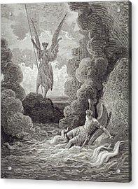 Satan And Beelzebub Acrylic Print by Gustave Dore
