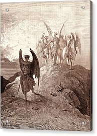 Satan Vanquished, By Gustave Dore. Dore, 1832 - 1883 Acrylic Print by Litz Collection