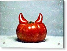 Satans Tomato Acrylic Print by Aditya Misra