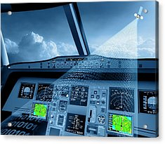 Satellite Air Traffic Control System Acrylic Print by European Space Agency