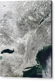 Satellite View Of A Large Noreaster Acrylic Print