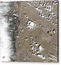 Satellite View Of Fort Collins Acrylic Print by Stocktrek Images