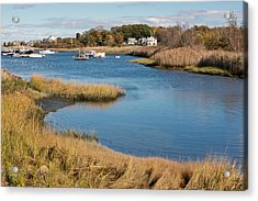 Satuit Brook Scituate Mass Acrylic Print by Gail Maloney