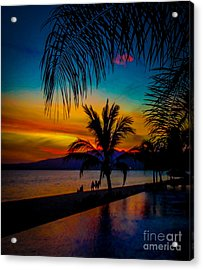 Saturated Mexican Sunset Acrylic Print by Charlene Gauld