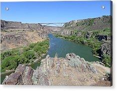 Saturday Afternoon Near The Snake River Bridge Acrylic Print by Joel Deutsch