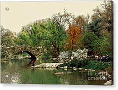 Saturday In Central Park Acrylic Print by Linda  Parker