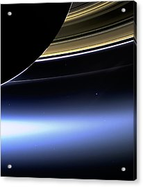 Saturn 2 Acrylic Print by Renee Anderson