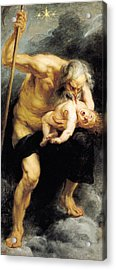 Saturn Devouring His Son Acrylic Print by Peter Paul Rubens