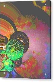 Saturn Acrylic Print by Nico Bielow