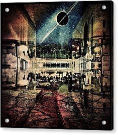 Saturn Over Riyadh #iphone #instagram Acrylic Print