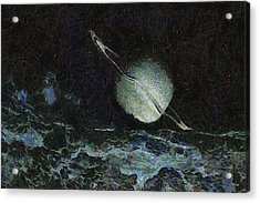 Saturn-y Acrylic Print by Ayse Deniz
