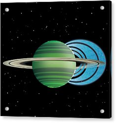 Saturn's Ring 'rain' Acrylic Print