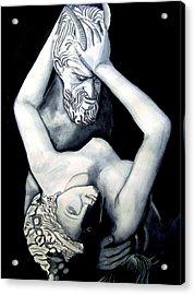 Satyre Et Bacchante Acrylic Print by Emmanuel Turner