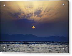 Saudi Sunrise Acrylic Print by David Davies