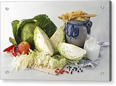 Sauerkraut Ingredients Acrylic Print by Science Photo Library