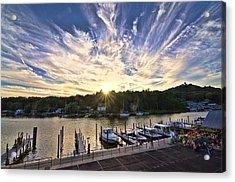 Acrylic Print featuring the photograph Saugatauk Sunset by John Hansen
