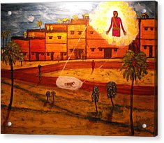 Saul On The Damascus Road Acrylic Print by Larry Farris