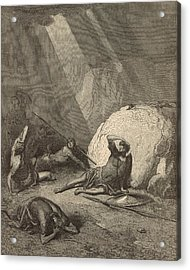 Saul's Conversion Acrylic Print by Antique Engravings