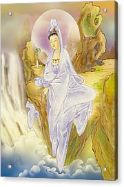 Acrylic Print featuring the photograph Sault-witnessing Kuan Yin by Lanjee Chee