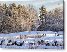 Acrylic Print featuring the photograph Sauna Shed by Larry Landolfi