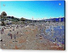 Sausalito Beach Sausalito California 5d22696 Artwork Acrylic Print by Wingsdomain Art and Photography