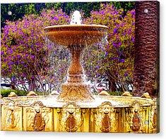 Sausalito California Fountain Acrylic Print by Jerome Stumphauzer