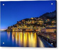 Sausalito Evening Reflections Acrylic Print