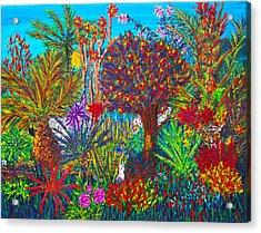 Savage Garden Acrylic Print by Peri Craig